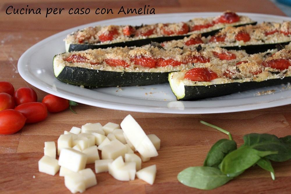Zucchine ripiene al formaggio - Cucina per caso con Amelia