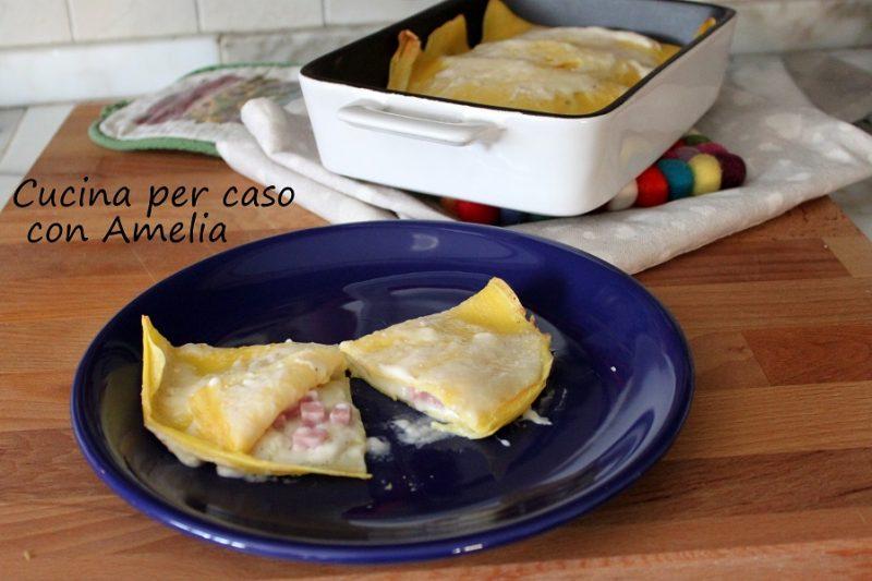 Crespelle al prosciutto e formaggio, ricetta