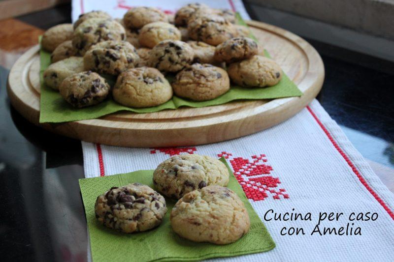 Cookies con gocce di cioccolato, ricetta