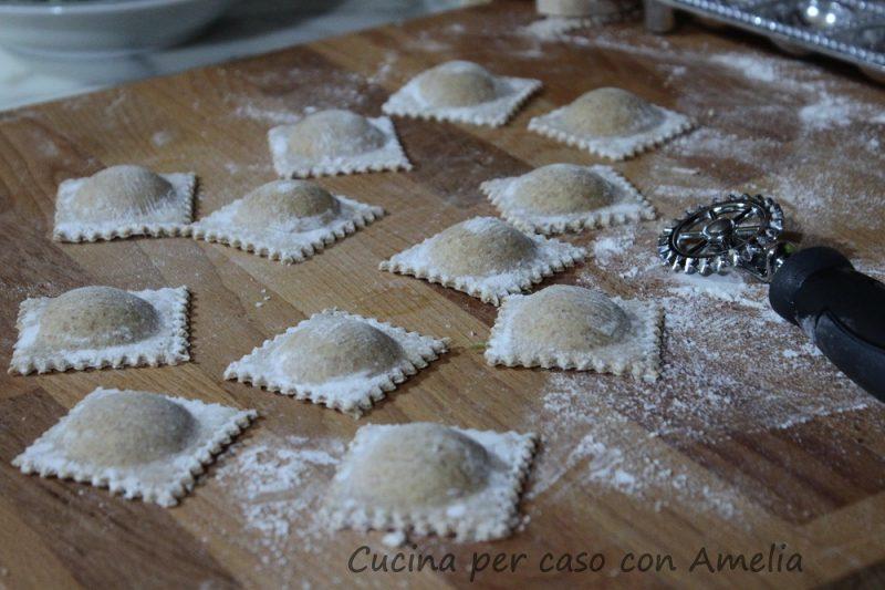 Ravioli di magro con farina tipo 1, ricetta