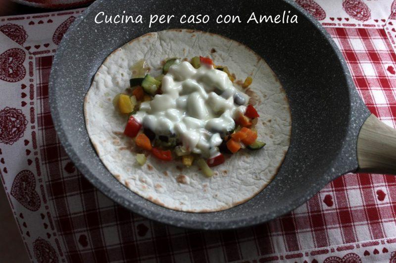 Tortillas vegetariana,ricetta