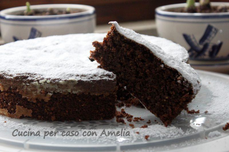 Torta caprese al cioccolato senza burro