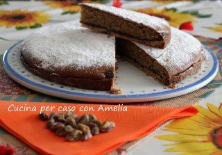 Torta due strati nocciolata e pistacchi / Cucina per caso con Amelia