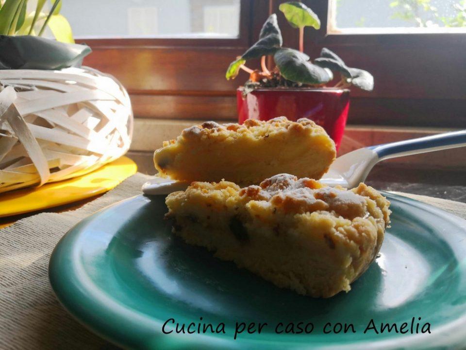 Sbriciolata con crema e pepite di cioccolato fondente/Cucina per caso con Amelia