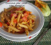 Pasta con fiori di zucchina, ricetta