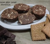 Salame al cioccolato fondente