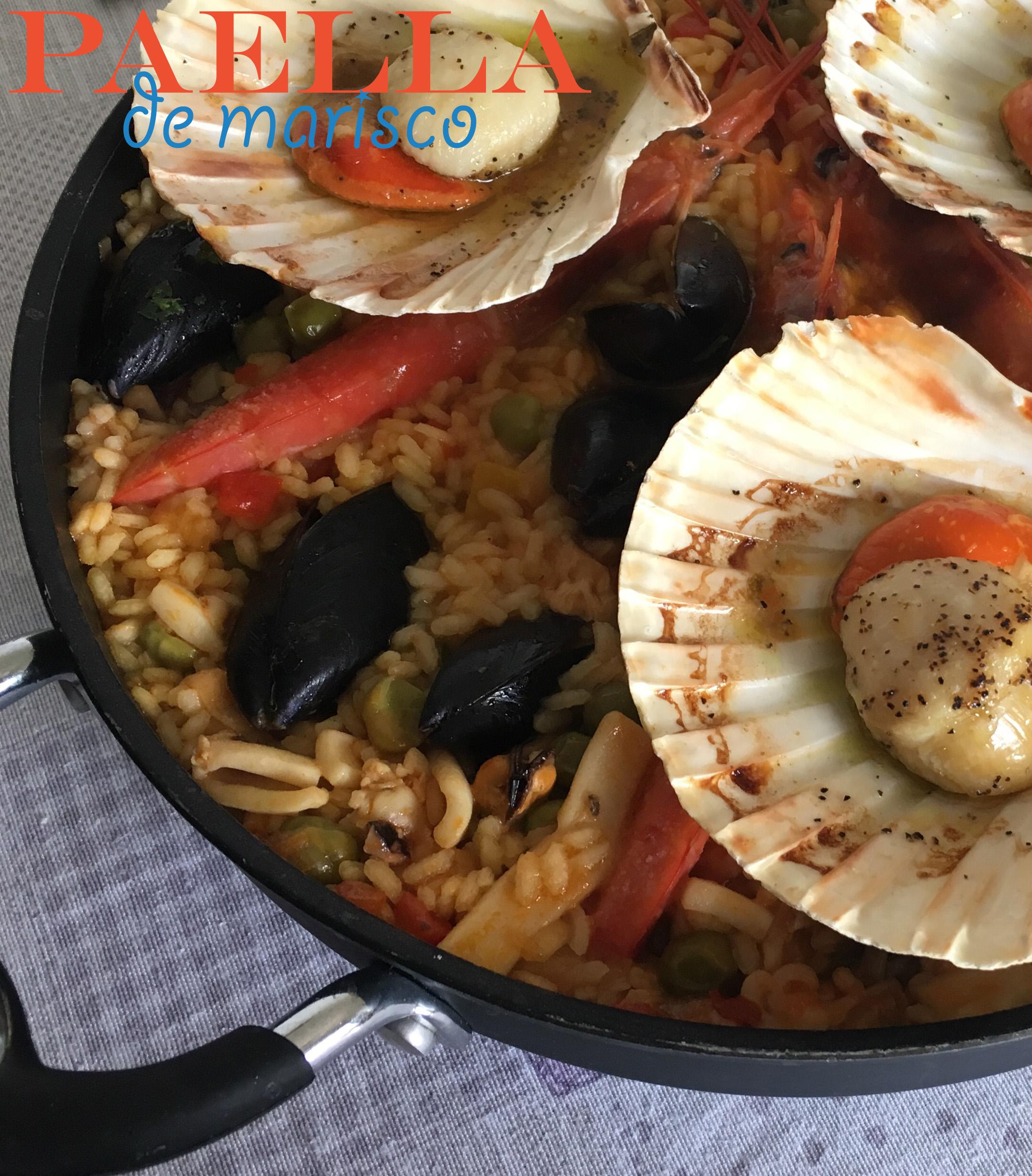 Paella De Marisco Con Pesce E Verdure