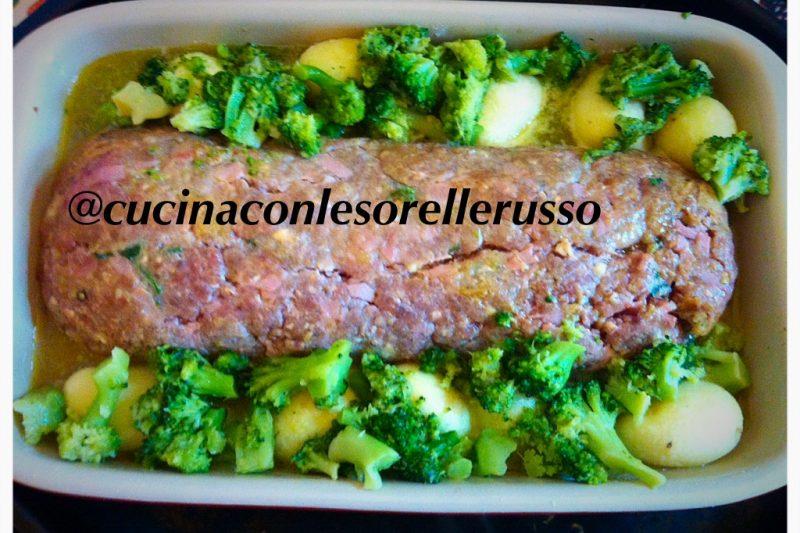 Il polpettone di carne ripieno alla provola con patate e broccoli