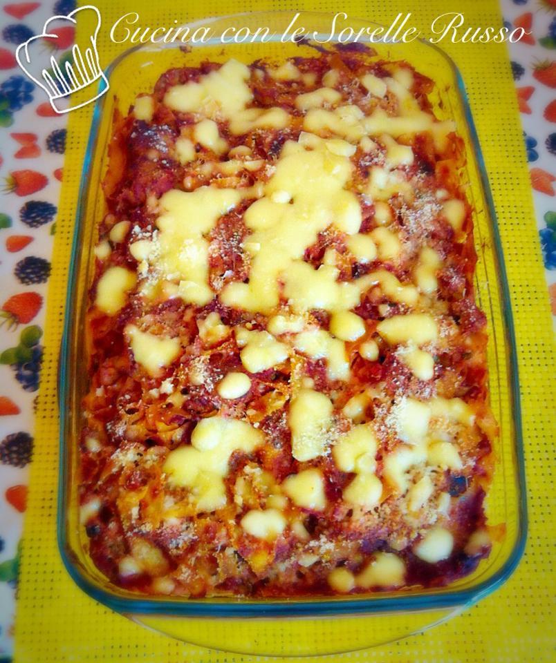 Pasta al forno alla napoletana con polpettine