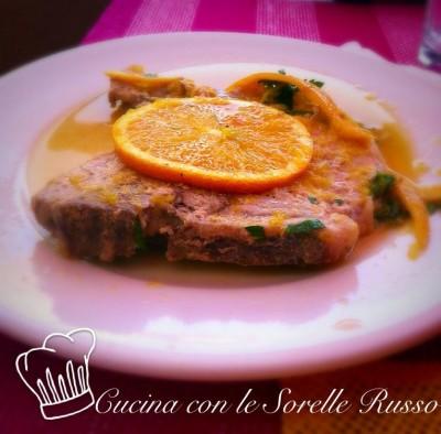 lombo di maiale in salsa di arance