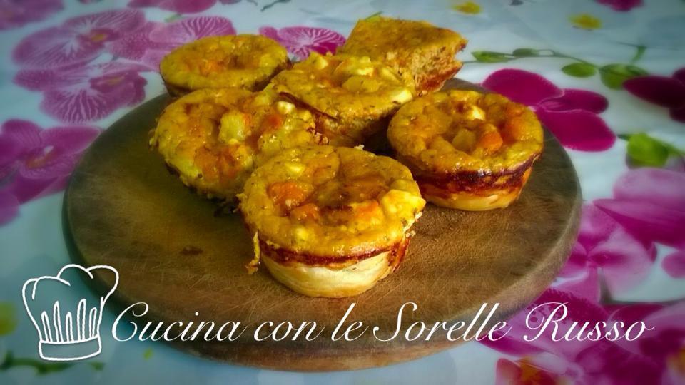 Tortini di zucca, patate e rosmarino