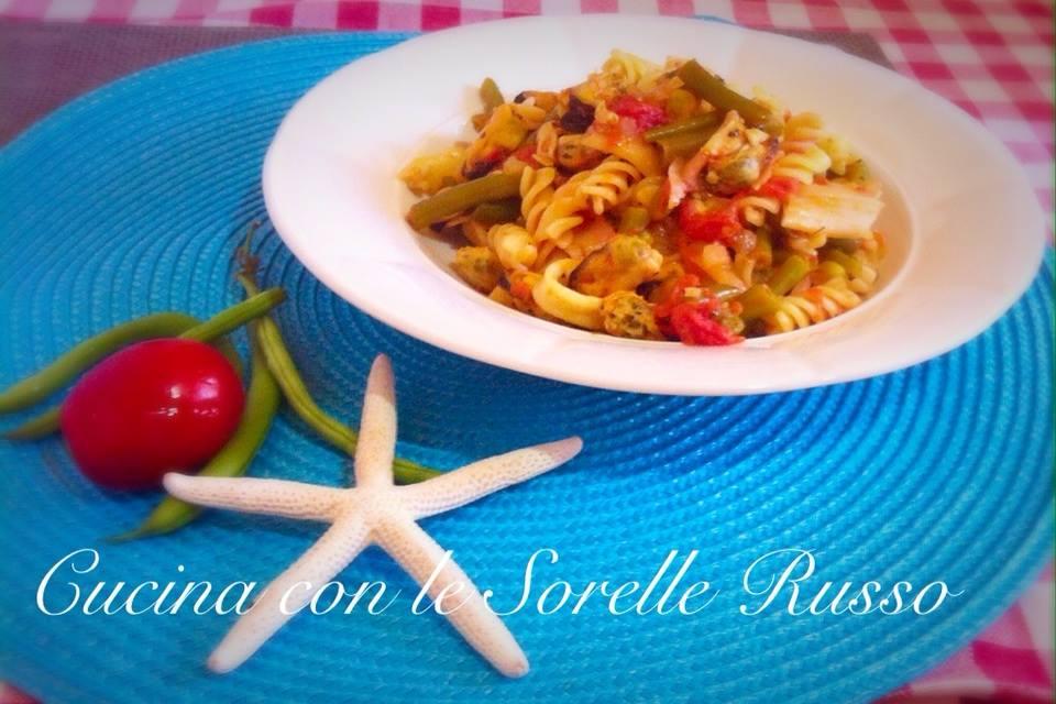 pasta cozze e fagiolini