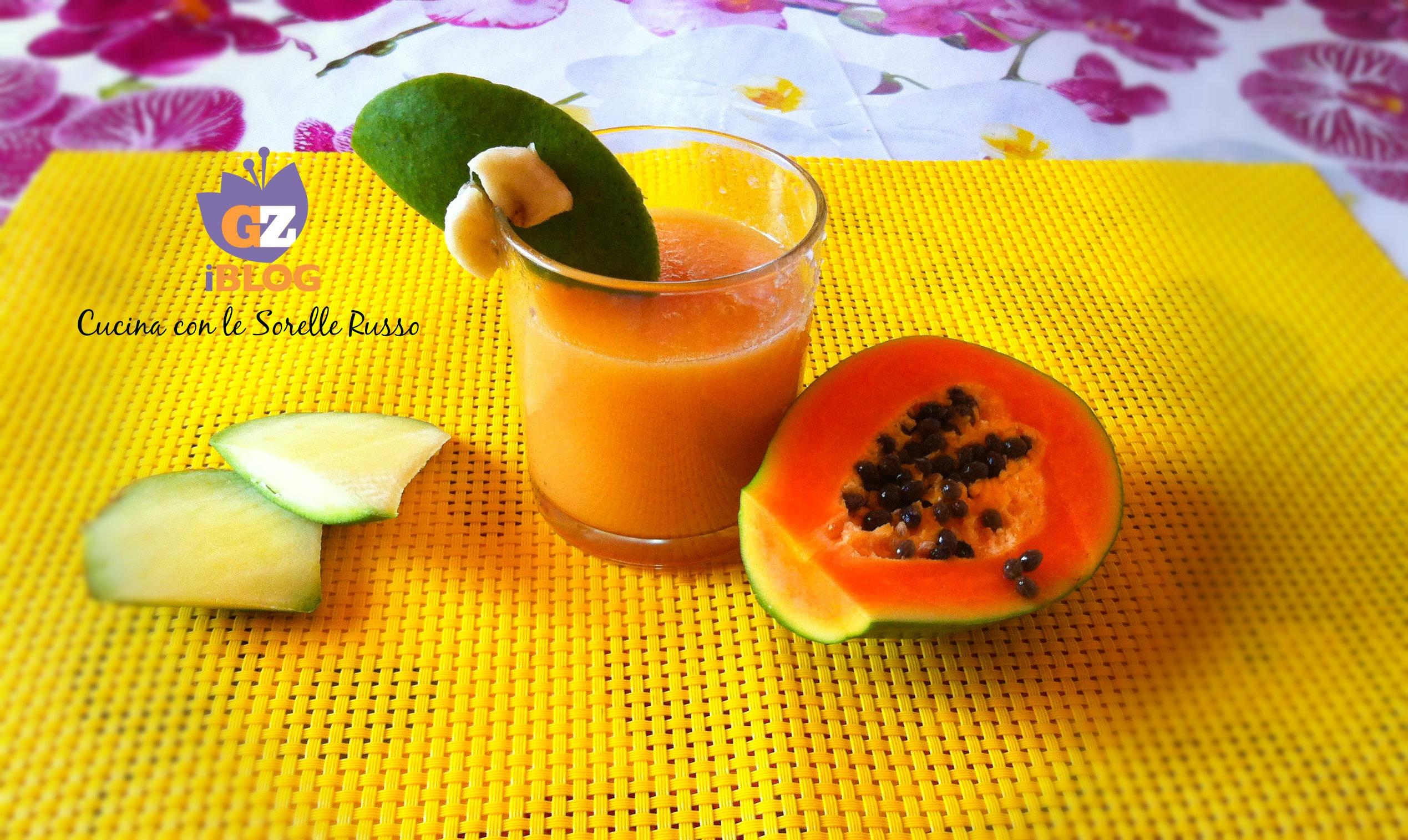 Frullato meraviglia alla papaya e mango