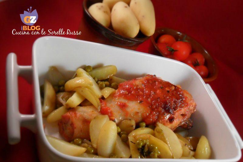 Pollo alla salsa d'aglio con patate