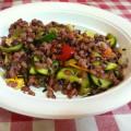 cinque cereali con misto verdure