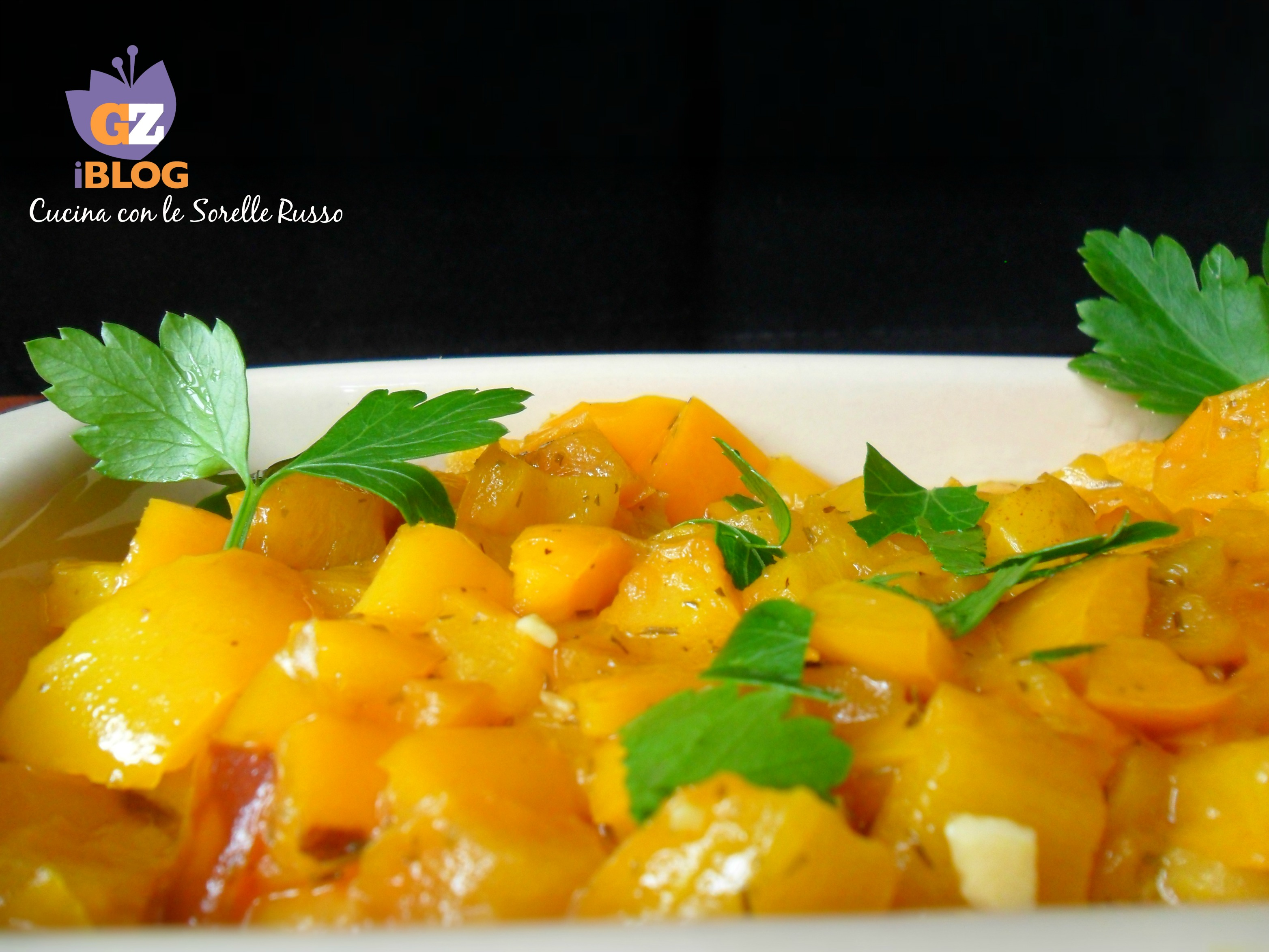 peperoni gialli fritti all'aglio 3