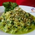 riso integrale alla crema di spinaci