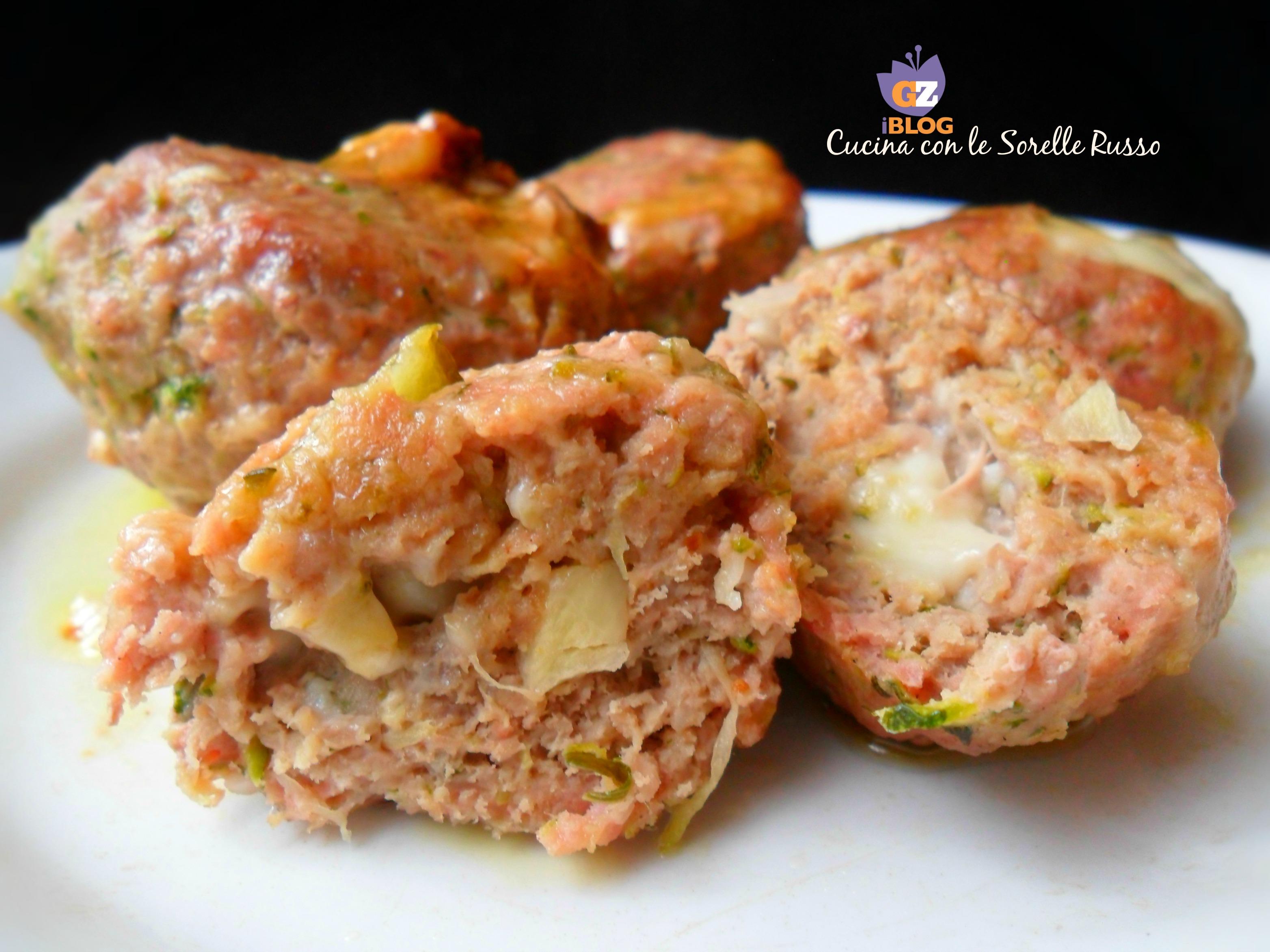 polpette di carne e zucchine