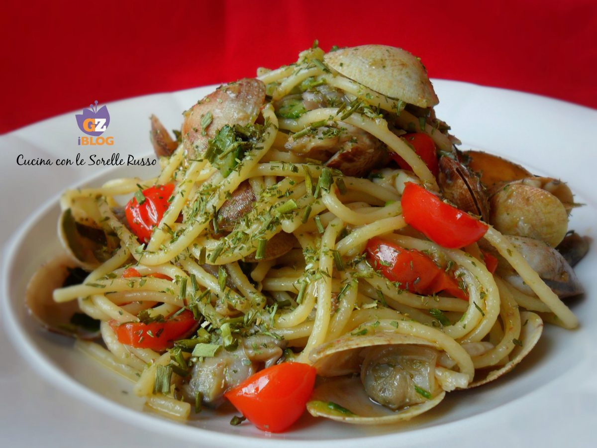 Spaghetti vongole e zucchine
