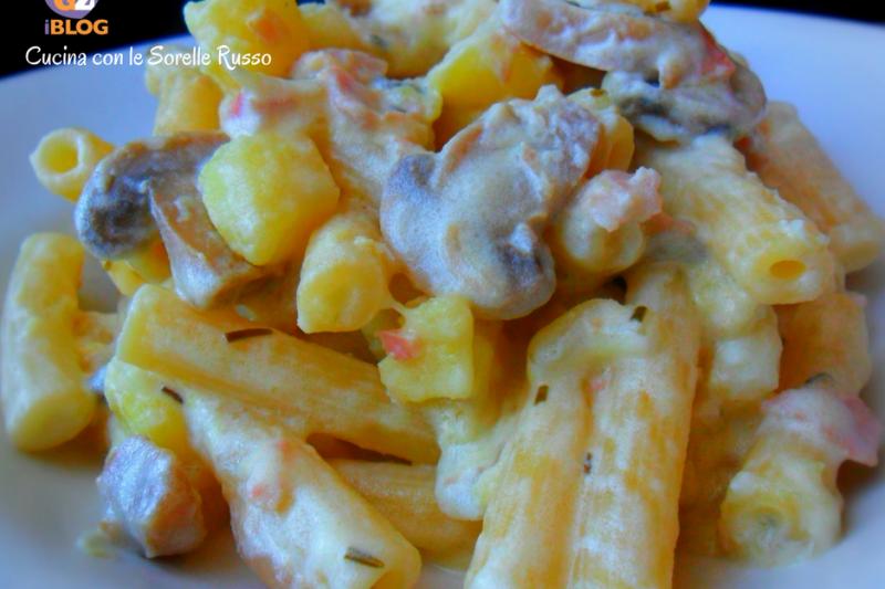Pasta patate e funghi
