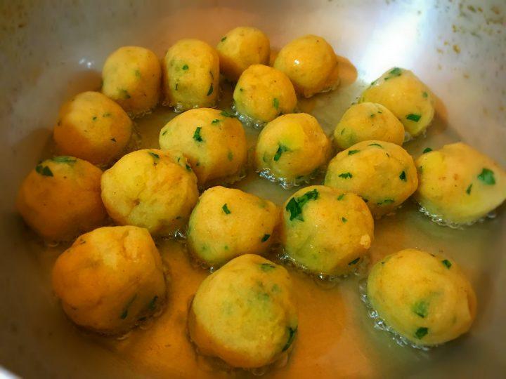 palline di patate al prezzemolo
