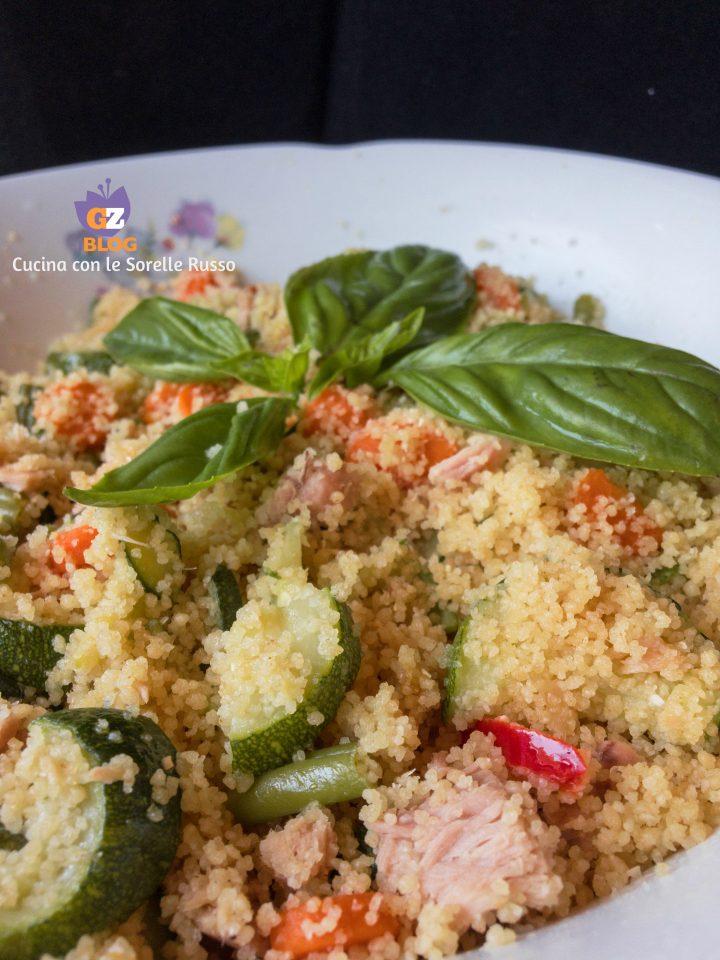 cous cous con tonno e verdure