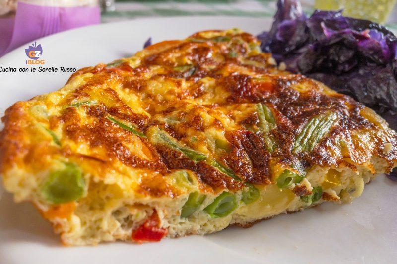 Frittata di verdure con cavolo rosso
