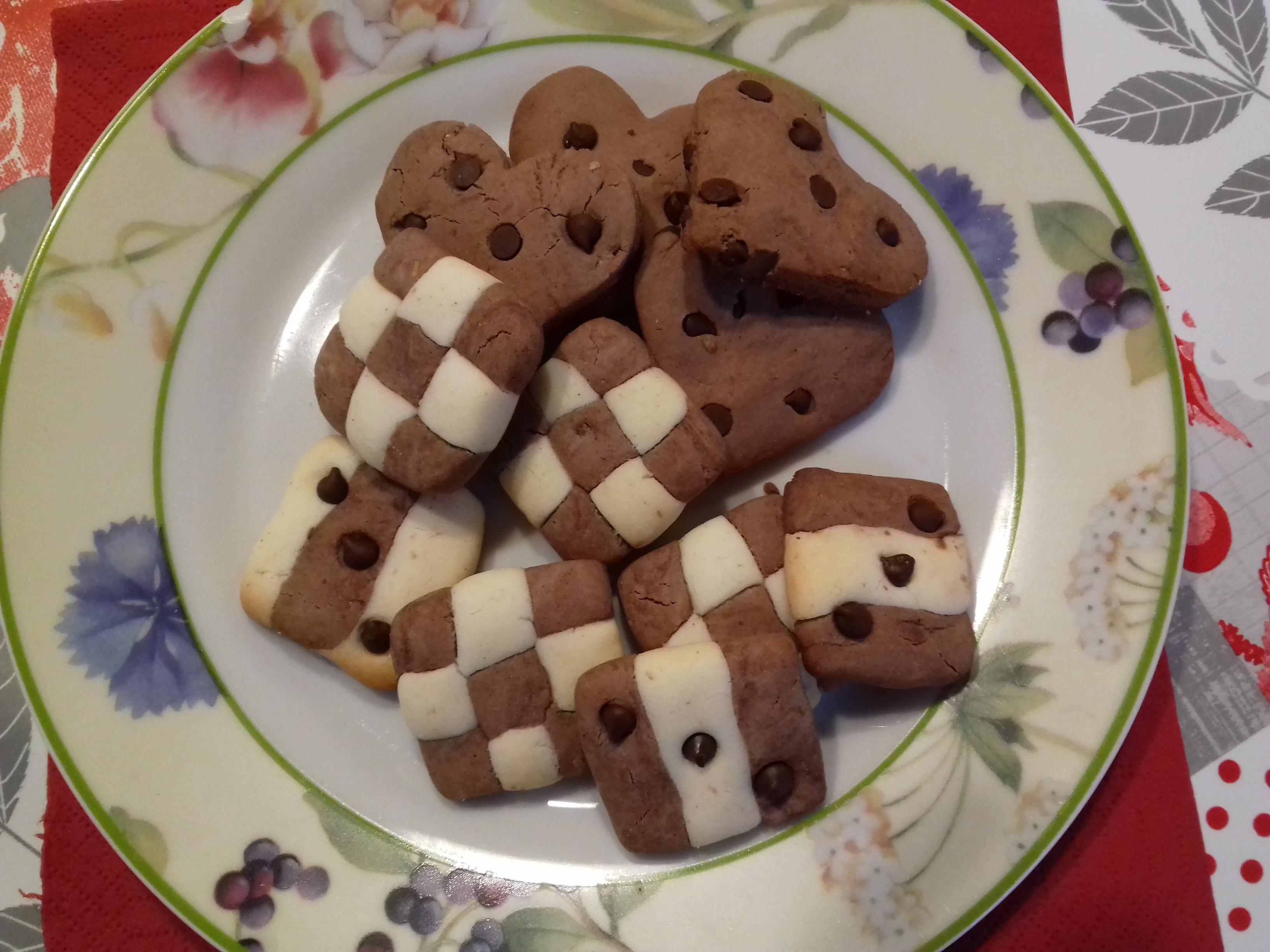 Biscotti senza glutine bicolore