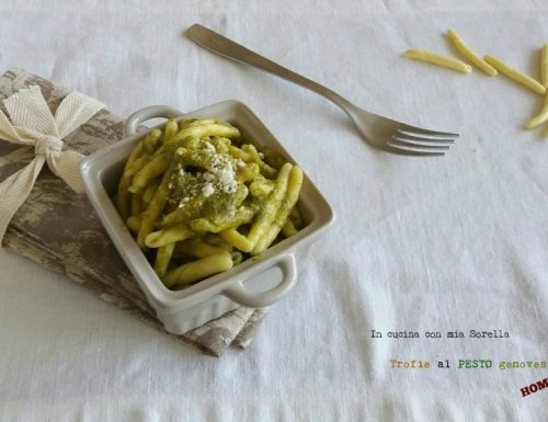 Trofie al pesto genovese home made
