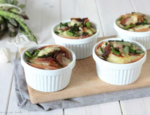 Sformatini di patate asparagi e pancetta