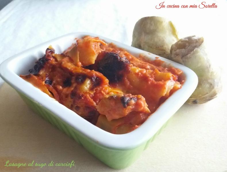 Lasagne al sugo di carciofi - foto in evidenza