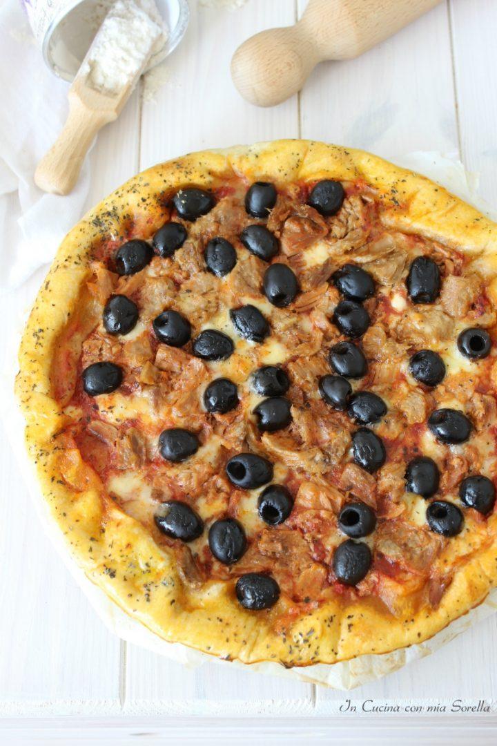 Quiche tonno olive e provola affumicata