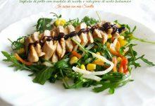 Tagliata di pollo con insalata di rucola e riduzione di aceto balsamico
