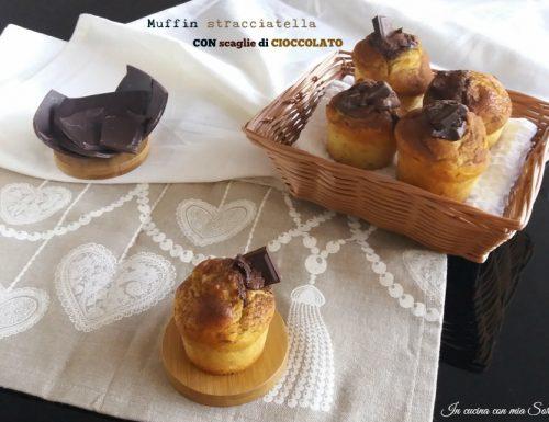Muffin stracciatella con scaglie di cioccolato – ricetta riciclo