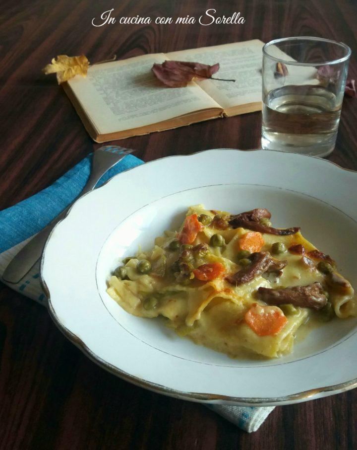Lasagne funghi e verdure