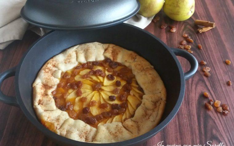 Crostata di mele e uvetta in padella