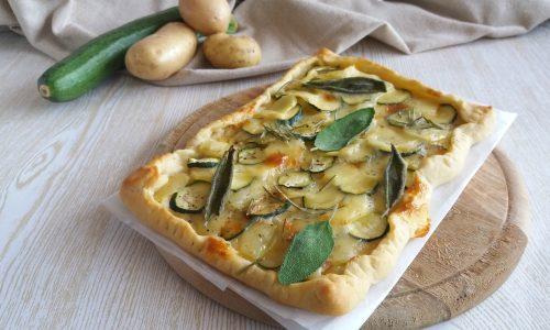 Pizza alle patate e zucchine