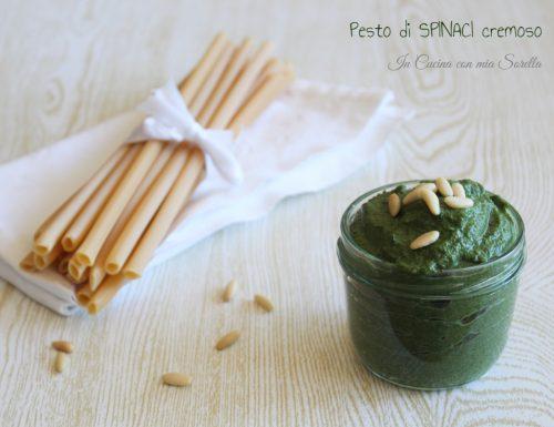 Pesto di spinaci cremoso