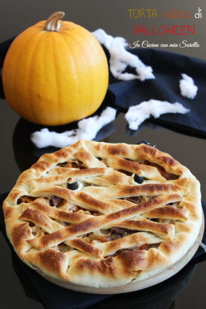 Torta salata di Halloween alla zucca funghi e speck - In cucina con ...