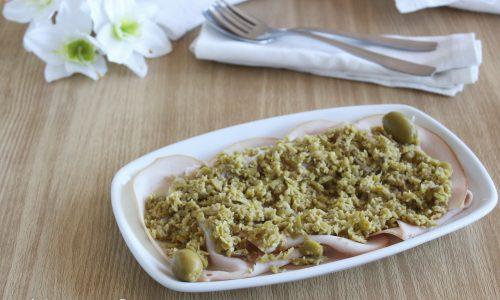 Tacchino con tapenade di olive verdi