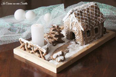 Centrotavola natalizio di pan di zenzero