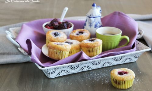 Muffin al cocco e frutti di bosco senza burro