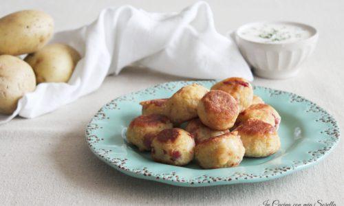 Polpette di patate e pancetta con scamorza