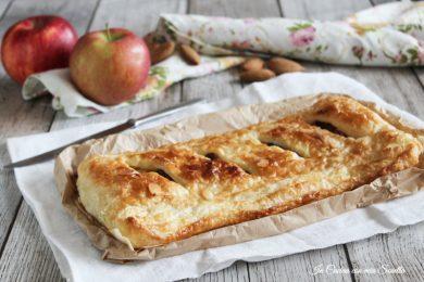 Strudel di mele e crema con pasta sfoglia