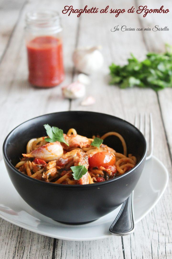 Spaghetti al sugo di sgombro