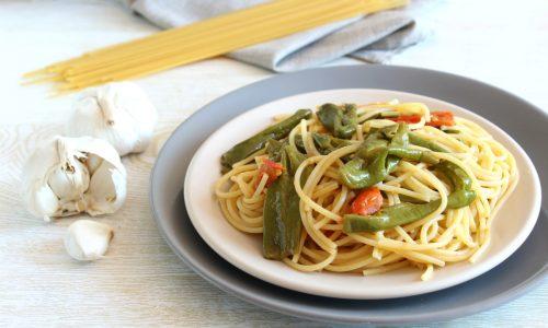 Spaghetti ai friggitelli – pasta ai peperoni