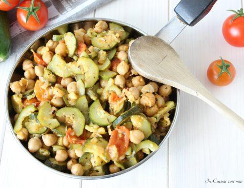 Ceci e zucchine in padella