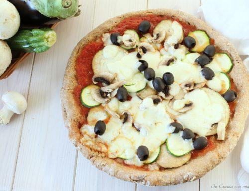 Pizza ortolana al piatto come in pizzeria