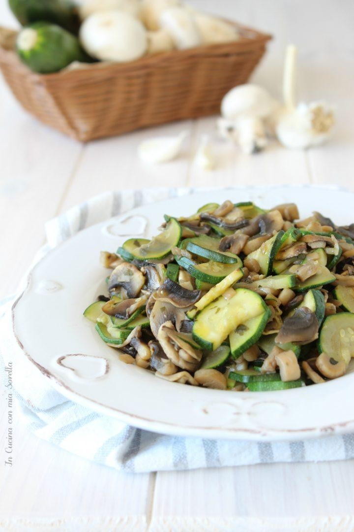 Zucchine e funghi trifolati