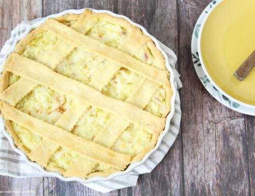 Crostata salata con stracchino e patate